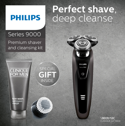 Philips Shaver S9031 Inkl. Clinique Gift Box. 5 st i lager